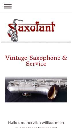 Vorschau der mobilen Webseite www.saxofant.com, Saxofant