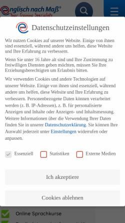 Vorschau der mobilen Webseite www.englisch-nach-mass.de, Englisch nach Maß