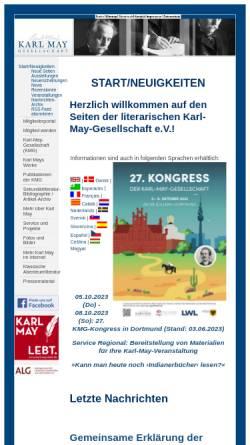 Vorschau der mobilen Webseite www.karl-may-gesellschaft.de, Originaltexte Karl Mays - nach Werkgruppen