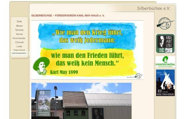 Vorschau von www.silberbuechse.net, Silberbüchse e. V. - Förderverein Karl-May-Haus