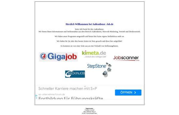 Vorschau von www.aussendienst-job.de, Außendienst-job.de