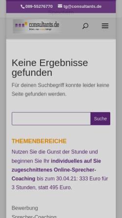 Vorschau der mobilen Webseite www.consultants.de, Cobus GmbH