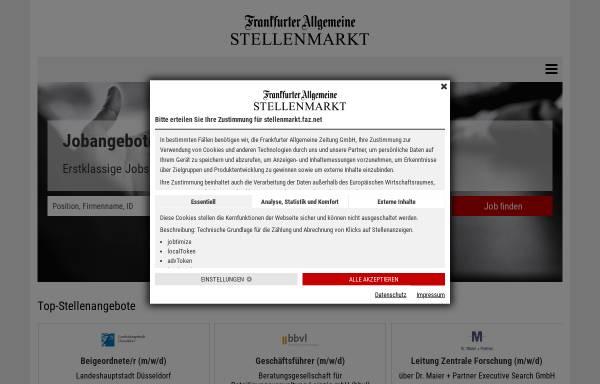 Vorschau von fazjob.net, Frankurter Allgemeine Zeitung