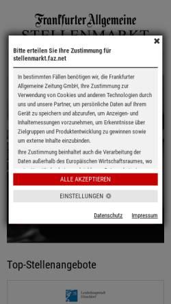 Vorschau der mobilen Webseite fazjob.net, Frankurter Allgemeine Zeitung