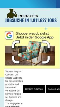 Vorschau der mobilen Webseite www.rekruter.de, Rekruter.de - FM-Studios GbR