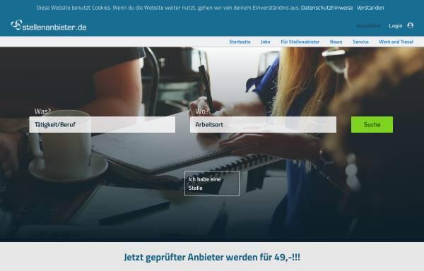 Vorschau von www.stellenanbieter.de, Stellenanbieter.de