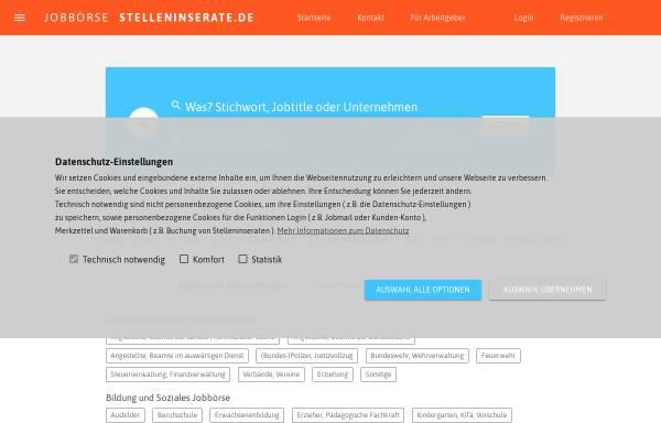 Vorschau von stelleninserate.de, Stelleninserate - Janes Agentur GmbH