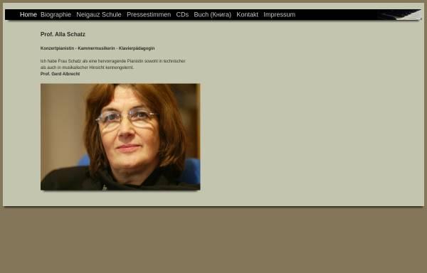Vorschau von www.allaschatz-piano.com, Schatz, Alla