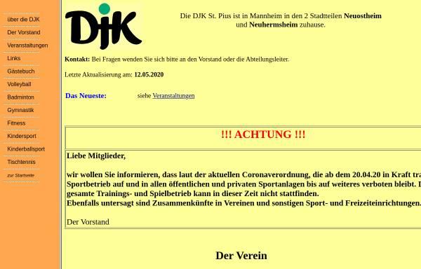 Vorschau von www.djk-stpius.de, DJK St. Pius