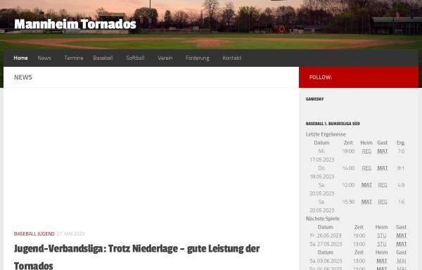 Vorschau von www.tornados.de, Mannheim Tornados