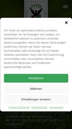Vorschau der mobilen Webseite www.mtg-mannheim.de, MTG Mannheim