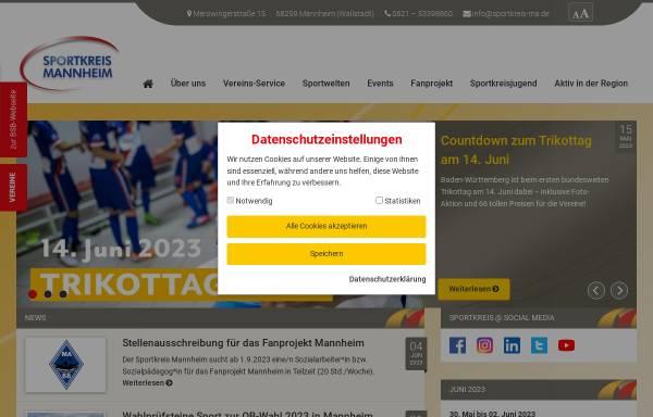 Vorschau von www.sportkreis-ma.de, Sportkreis Mannheim