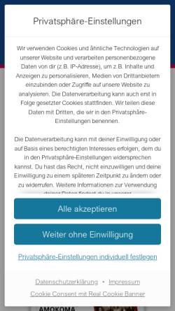 Vorschau der mobilen Webseite www.tv-kaefertal.de, Turnverein 1880 Käfertal e.V.