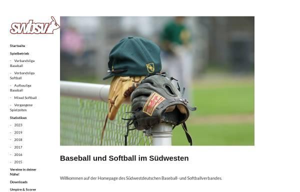 Vorschau von www.swbsv.de, Südwestdeutscher Baseball und Softball Verband