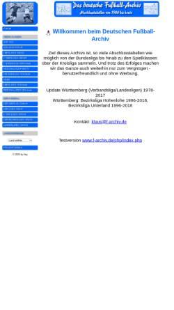 Vorschau der mobilen Webseite www.f-archiv.de, Deutsches Fußball - Archiv