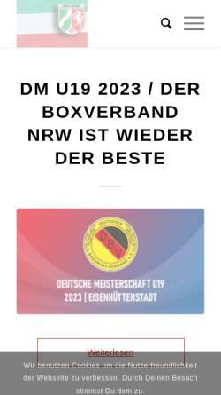 Vorschau der mobilen Webseite www.boxen-westfalen.de, Westfälischer Amateur Box Verband e.V. (WABV)