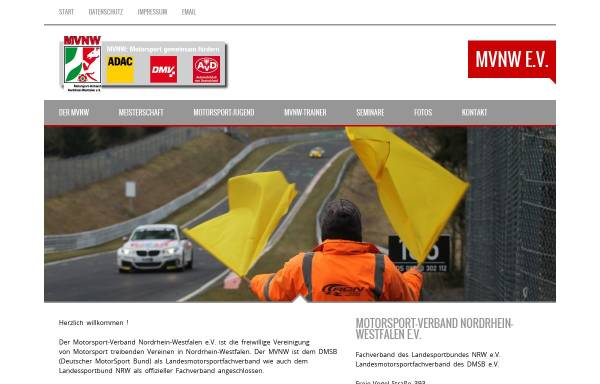 Vorschau von www.mvnw.de, Motorsport-Verband Nordrhein-Westfalen (MVNW)