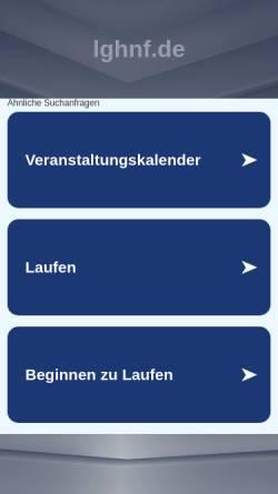 Vorschau der mobilen Webseite www.lghnf.de, 24h-Lauf des LGHNF Hamburg