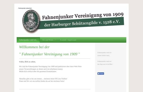 Vorschau von www.fahnenjunker.de, Fahnenjunker Vereinigung der Harburger Schützengilde von 1528 e.V.