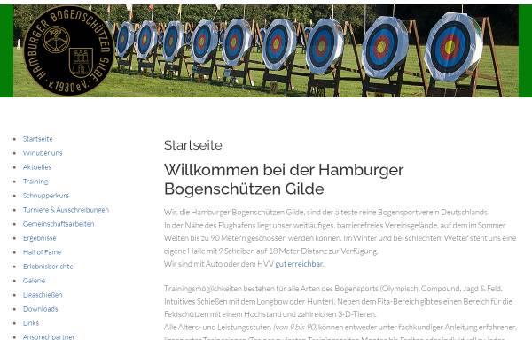 Vorschau von www.hamburger-bogenschuetzen-gilde.de, Hamburger Bogenschützen Gilde von 1930 e.V.