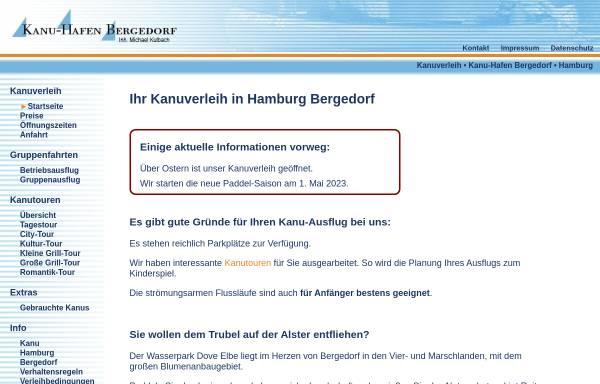 Vorschau von www.kanu-hafen.de, Kanu Hafen Bergedorf