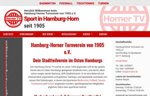 Vorschau von www.horner-tv.de, Horner-Turnverein von 1905 e.V.