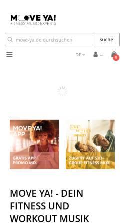 Vorschau der mobilen Webseite www.move-ya.de, Move Ya! Lifestyle Kontor GmbH
