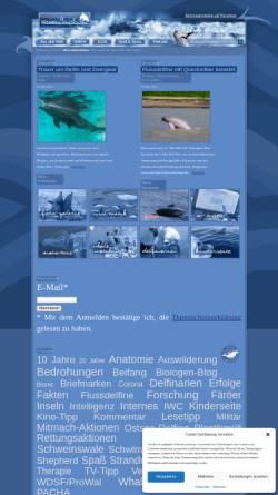 Vorschau der mobilen Webseite www.meeresakrobaten.de, Delfine und Wale [meeresakrobaten.de]