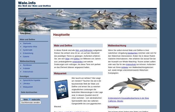 Vorschau von www.wale.info, Die Welt der Wale und Delfine