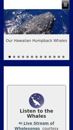 Vorschau der mobilen Webseite www.whalesong.info, Whalesong Deutschland