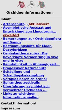 Vorschau der mobilen Webseite www.orchidinfo.de, Orchideeninformationen