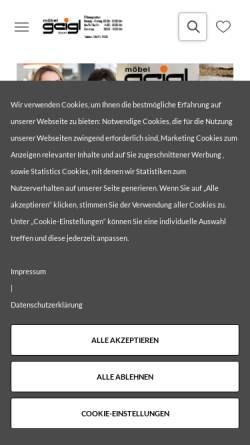 Vorschau der mobilen Webseite www.moebel-geigl.de, Möbel Geigl