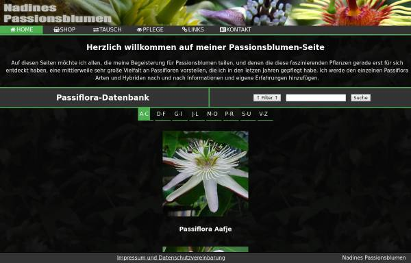 Vorschau von www.nafralevi.de, Nadines Passionsblumen