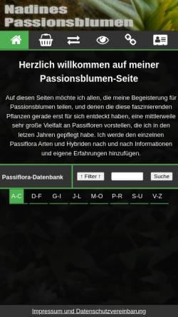 Vorschau der mobilen Webseite www.nafralevi.de, Nadines Passionsblumen