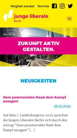 Vorschau der mobilen Webseite www.julis-berlin.de, JuLis - Junge Liberale Berlin