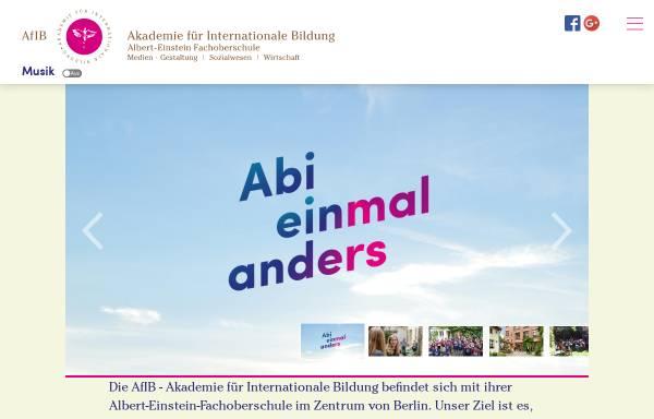 Vorschau von www.afib-berlin.de, Akademie für Internationale Bildung mit Fachoberschule - Charlottenburg