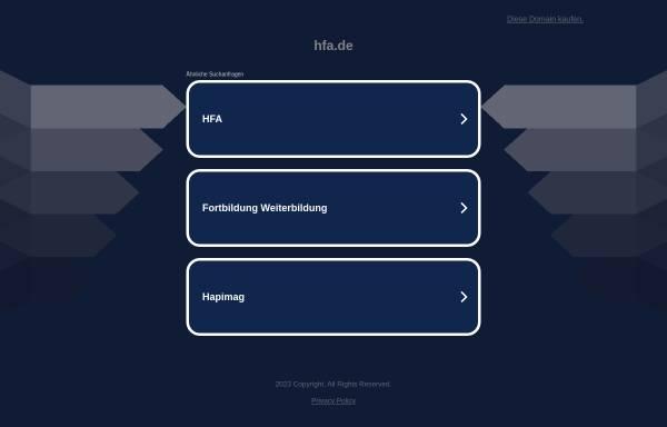 Vorschau von www.hfa.de, Handel- und Finanzakademie GmbH