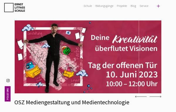 Vorschau von www.ernst-litfass-schule.de, OSZ Druck- und Medientechnik Berlin - Reinickendorf