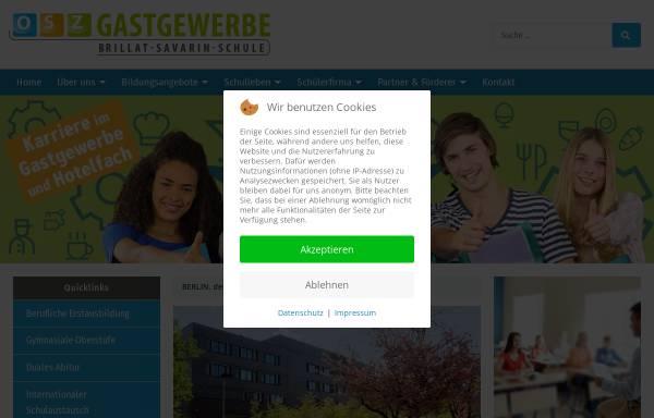 Vorschau von www.osz-gastgewerbe.de, OSZ Gastgewerbe - Brillat-Savarin-Schule