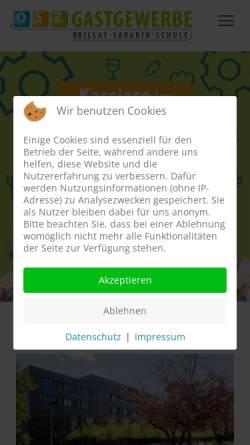 Vorschau der mobilen Webseite www.osz-gastgewerbe.de, OSZ Gastgewerbe - Brillat-Savarin-Schule