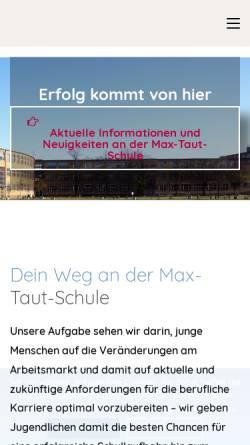 Vorschau der mobilen Webseite www.max-taut-schule.de, OSZ Max-Taut-Schule in Berlin - Lichtenberg