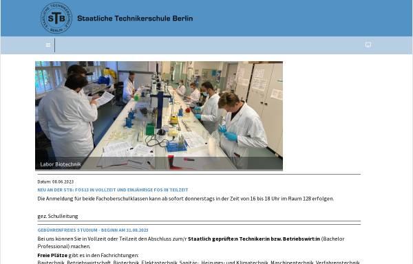 Vorschau von www.technikerschule-berlin.de, Staatliche Technikerschule - Tiergarten