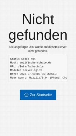 Vorschau der mobilen Webseite www.lefa-berlin.de, Staatlichen Fachschule für Lebensmitteltechnik - Reinickendorf