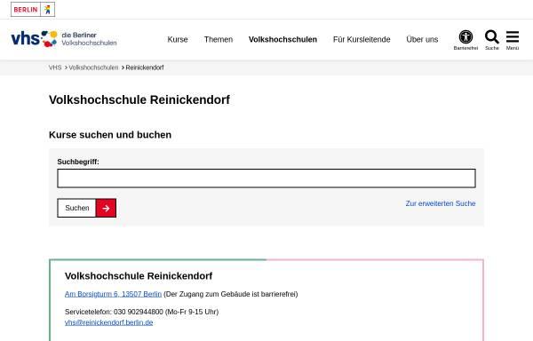 Vorschau von www.berlin.de, Volkshochschule Reinickendorf