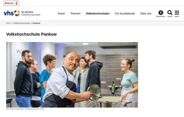 Vorschau von www.vhspankow.de, Volkshochschule (VHS) Berlin Pankow, Prenzlauer Berg und Weißensee