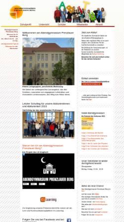 Vorschau der mobilen Webseite www.abendgymnasium-berlin.de, Abendgymnasium Prenzlauer Berg von Berlin