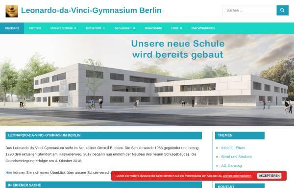 Vorschau von www.leonardo-da-vinci-gymnasium.de, Leonardo da Vinci Gymnasium