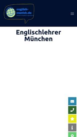 Vorschau der mobilen Webseite www.english-munich.de, English-Munich [Franz Seidenfuß]