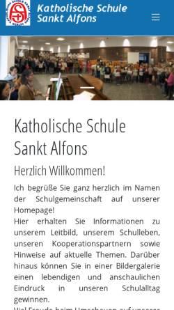 Vorschau der mobilen Webseite www.kssa.de, Katholische Schule Sankt Alfons