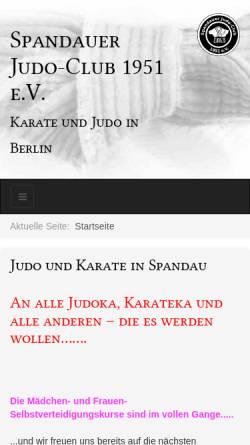 Vorschau der mobilen Webseite spandauer-judo-club.de, Klosterfeld Grundschule